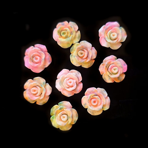 Dusted Pink Roses - 13mm (20pcs)
