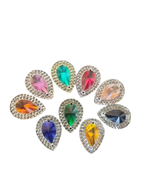 Mixed Crystal Drops 13x18mm (20pcs)