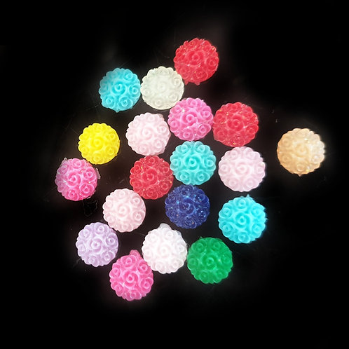 Floral Rounds - 8/10mm (20/40pcs)