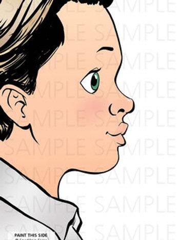 Sparkling Faces Board - Ben Left-Handed