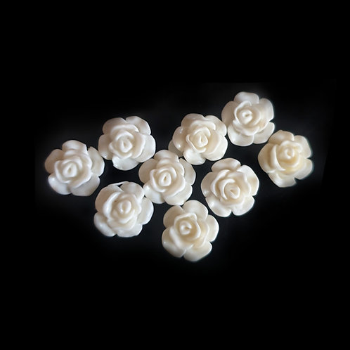 White Roses - 13mm (20pcs)