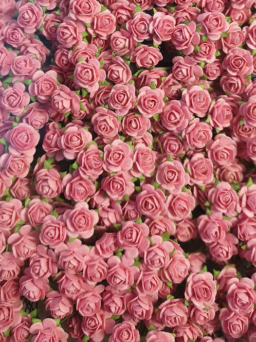 Classic Mulberry Paper Roses - 10mm (25pcs)