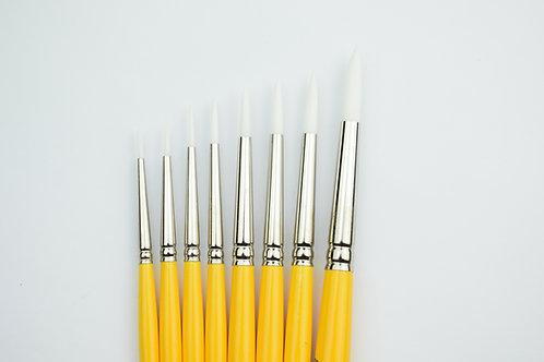 SET x6 - LC Round White Nylon - 795 Series