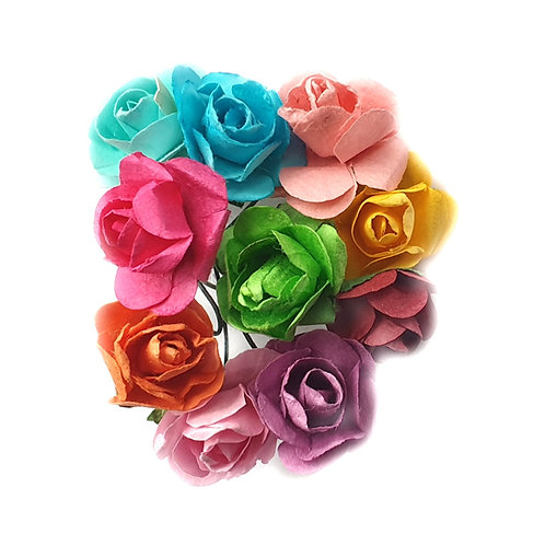 Paper Flowers - 15mm (12pcs)