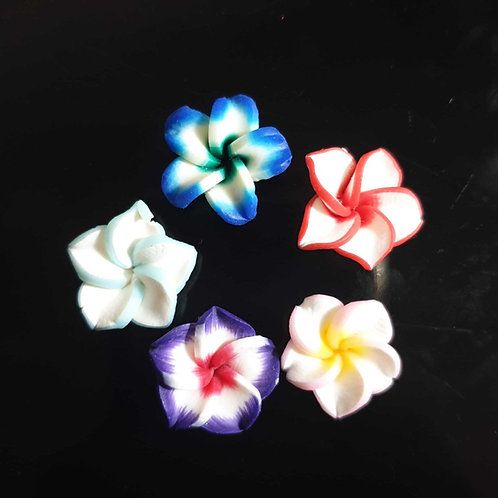 Clay Flowers - 16mm  (10pcs)