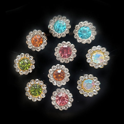 Crystal Diamante - 10mm (10pcs)