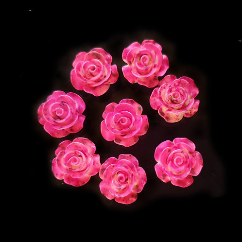 Dusted Fuchsia Roses - 14mm (20pcs)