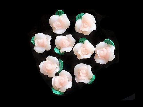 Clay Roses  - 12mm (10pcs)