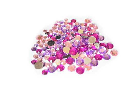Mixed Stones - Purple/pink