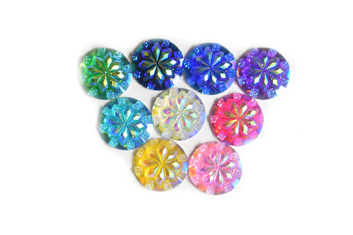 Star dome Rounds - Mixed 12mm  (20pcs)