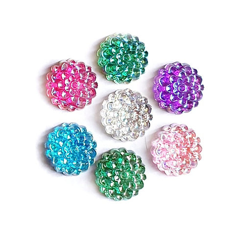 Floral Layered Rounds - 14mm (20pcs)