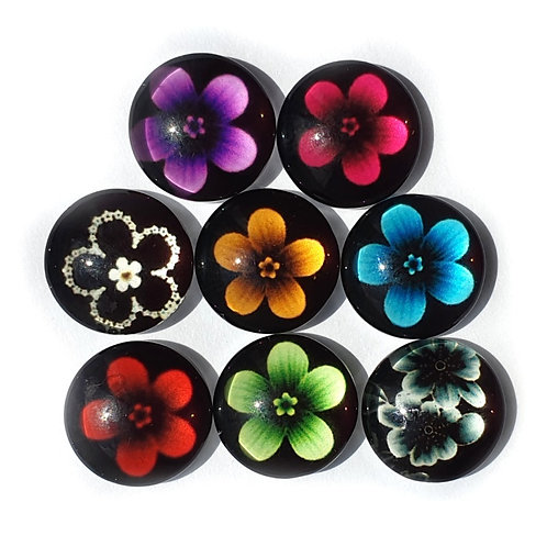 Floral Cabochon   - 12mm (10pcs)
