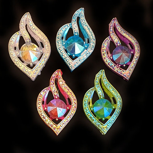 Crystal Flame -  21*34mm (10pcs)
