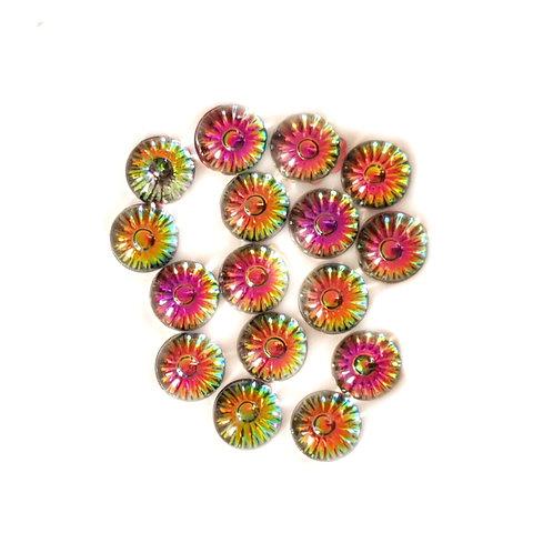 Rainbow domes - Mixed 10 mm  (40pcs)