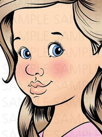 Sparkling Faces Board - Mia Right-Handed 3/4 Profile