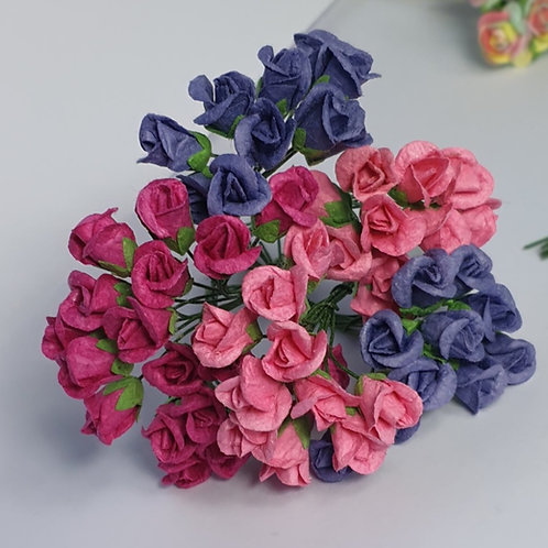 Paper Rose buds - 8mm (25pcs)