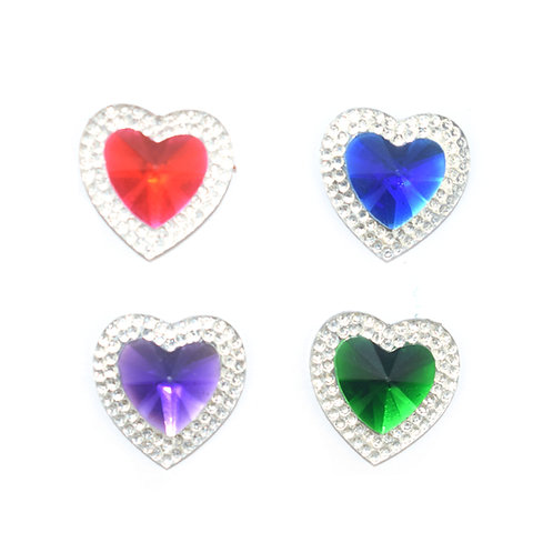 Crystal Hearts - 18mm (20pcs)