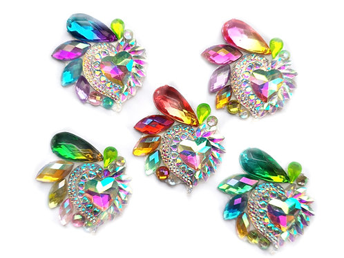 Glam Hearts - 5pc Cluster set