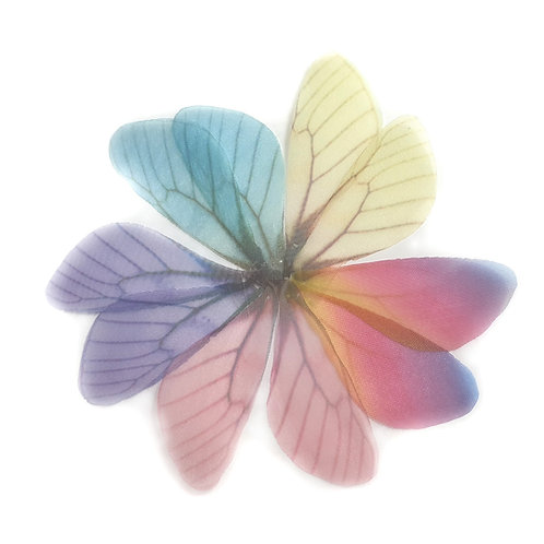Fabric Wings - 18x85mm (10pairs/colours)