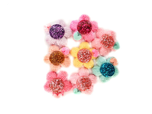 Flowers 4 - Mixed 20 mm  (10pcs)