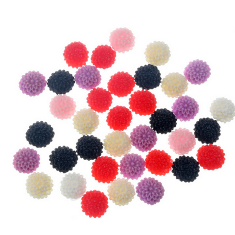 Floral Dome Round  - 10mm (25pcs)