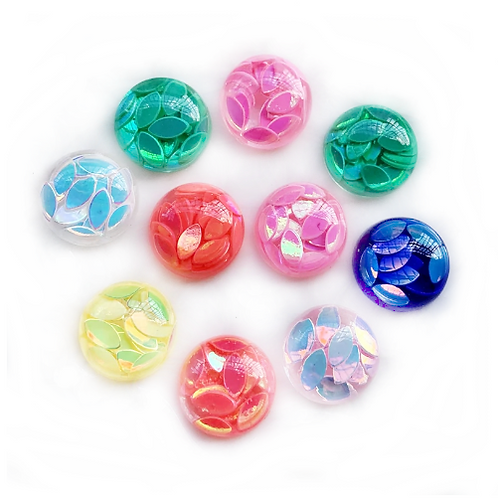 Sequin Dome Round  - 10mm (25pcs)