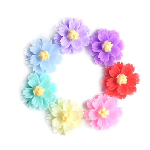 Flowers 3 - Mixed 13 mm  (20pcs)