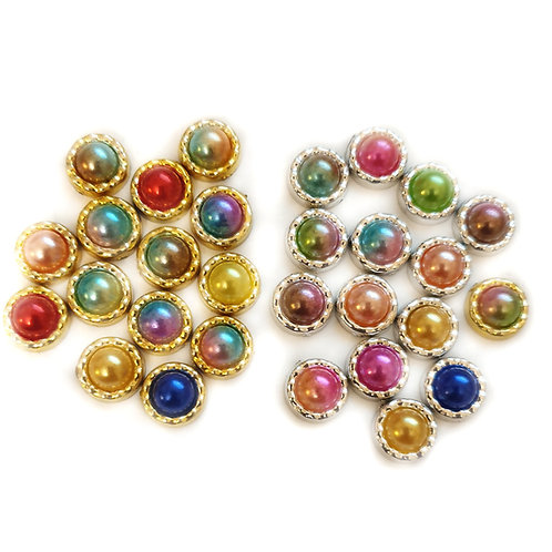 Banded Pearls- 9mm (25pcs)