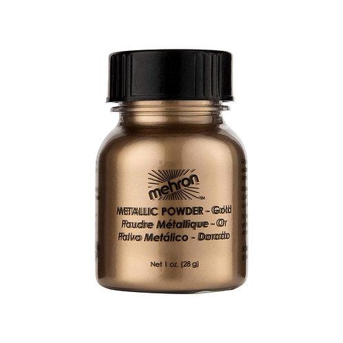 Mehron Metallic Powder - Gold 1oz