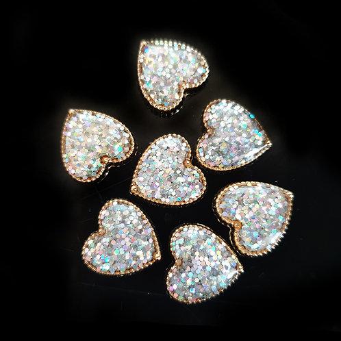 Glitter Hearts - 12mm (20pcs)