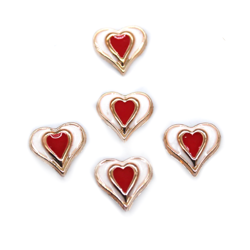 Centred Heart - 13mm  (20pcs)