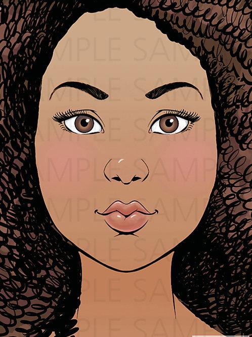 Sparkling Faces Board - Tina
