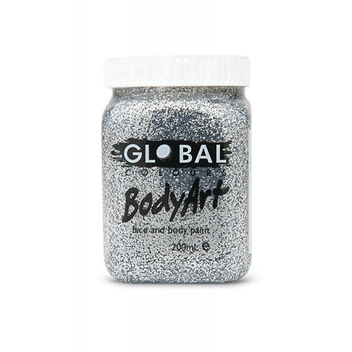 Global Ultra Glitter Gel - Silver 200ml