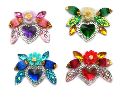 Hearts -  4pc Cluster set