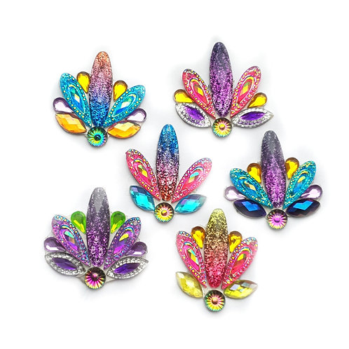 Peacock Clusters -  6pc Cluster set