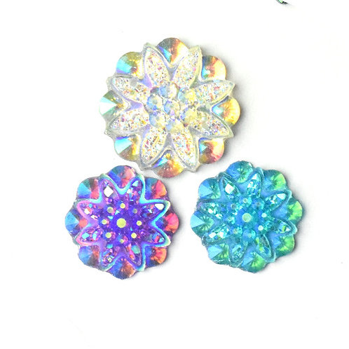 Floral Star Rounds AB - 16/19mm (20)