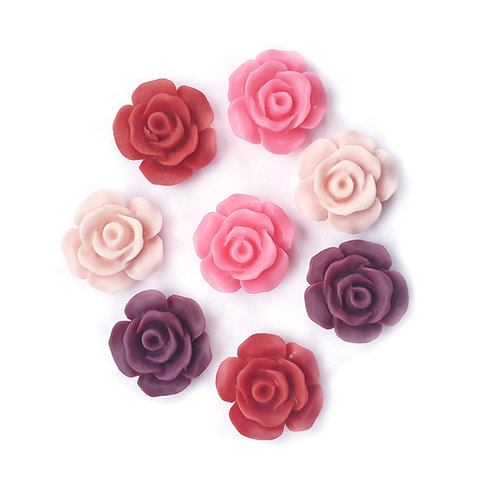 Anna Mix Flowers  - 15mm (20pcs)