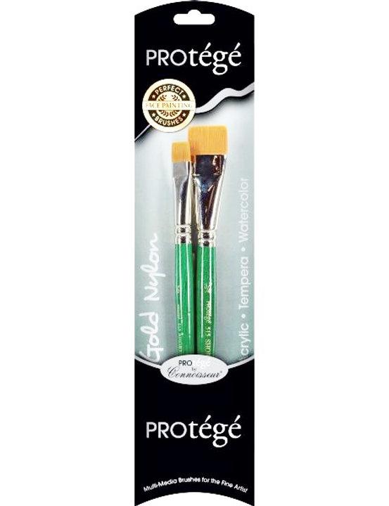 Protege Gold Nylon Brush - 2pc