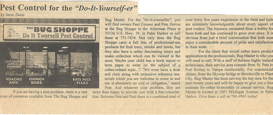 BUG SHOPPE ARTICLE ST. PETE TIMES.jpg