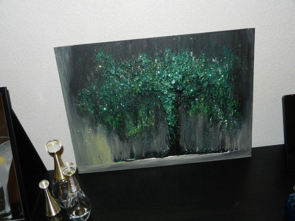 Saule pleureur magique peinture