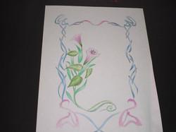 Arabesque fleurs crayon