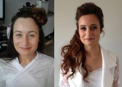 Maquillage mariée avant-après