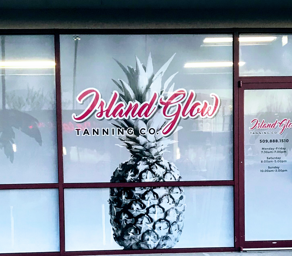 Wenatchee Tanning at Island Glow Tanning - Store front shown.