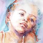 watercolour portrait by Stephie Butler