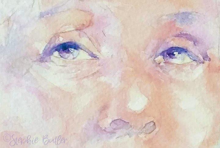 Working on Emmeline's eyes