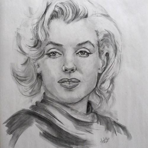 Marilyn in charcoal_on Strathmore Artist