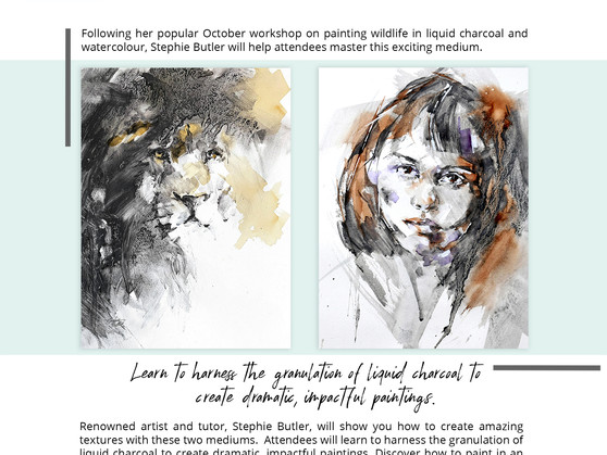 Mastering liquid charcoal & watercolour