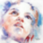 Watercolour portrait of a child