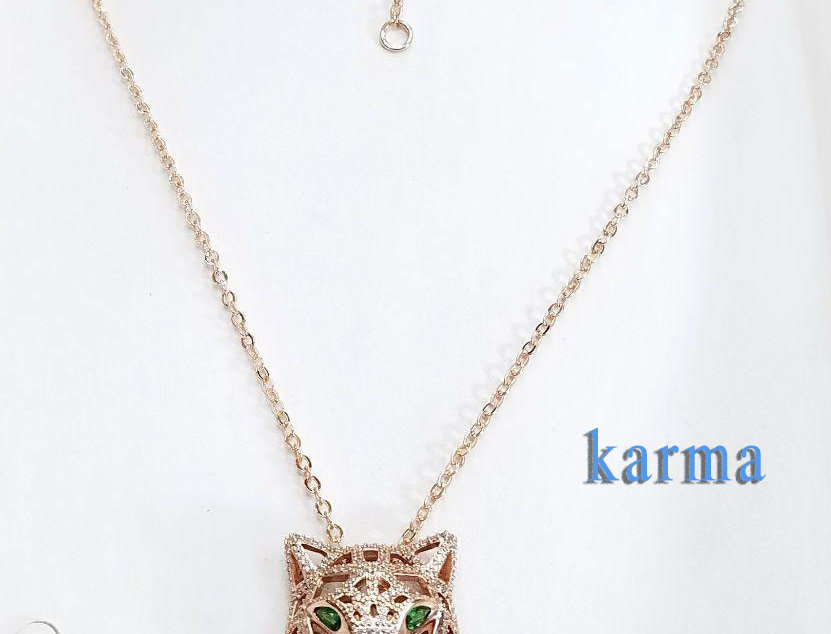 Necklace green Rose Gold Zirconia Cubic Diamond Jewelry Accessories
