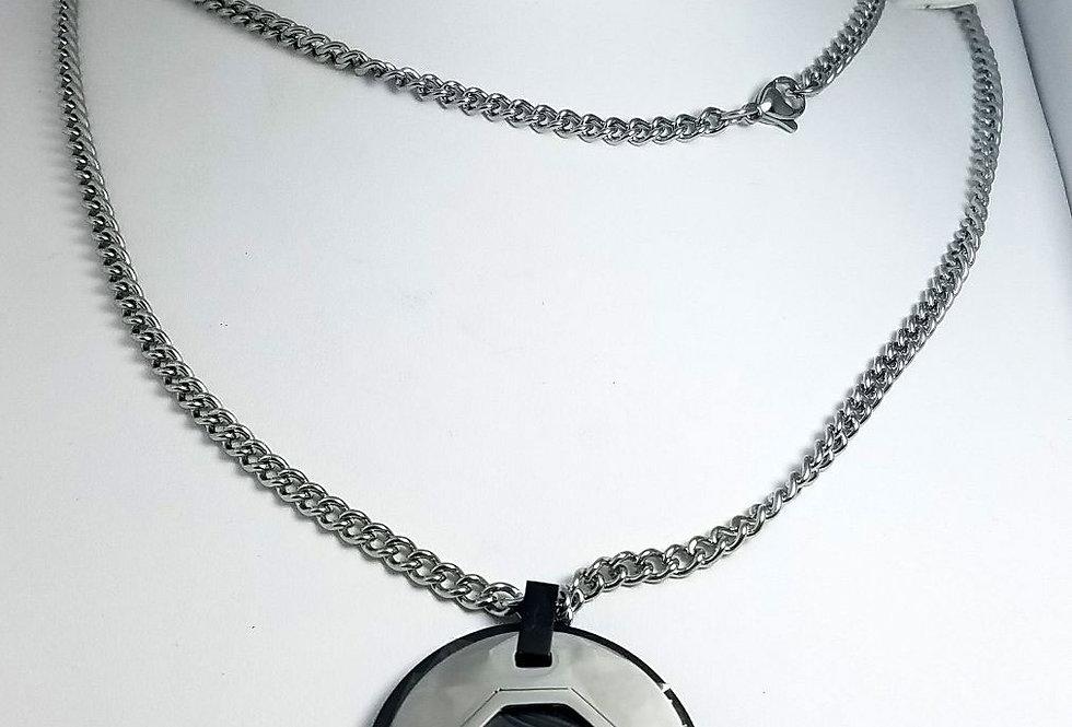 Dolce & Gabbana Necklace Silver Black Chain Jewelry